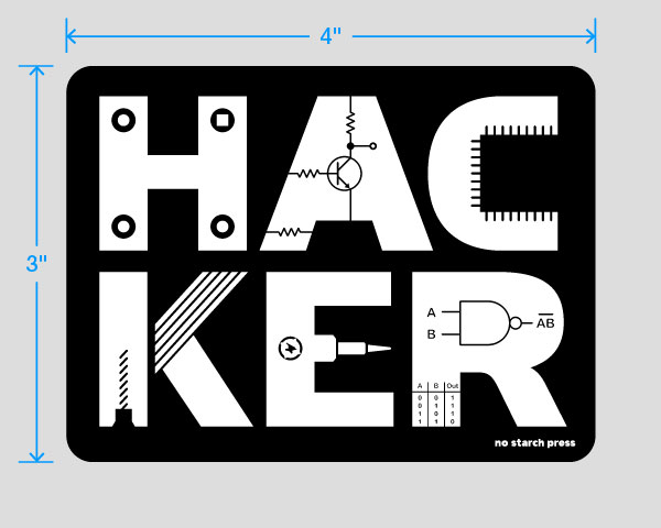 Buy '(Hardware) Hacker' Stickers